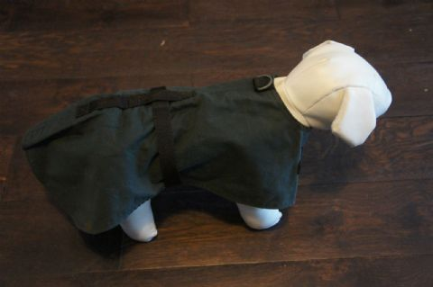 UNLINED WAX DOG COAT 12""